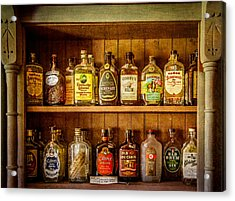 Liquor Cabinet Acrylic Print by Paul Freidlund