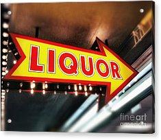 Liquor Store Sign Acrylic Print