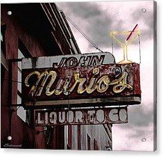 Liquor To Go Acrylic Print by Larry Butterworth
