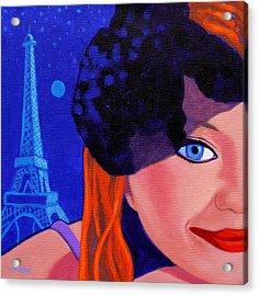 Lisa Darling - Paris - Irish Burlesque Acrylic Print