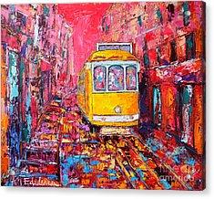 Lisbon Impression Acrylic Print by Ana Maria Edulescu