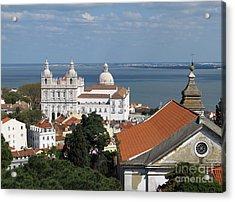 Lisbon Panoramic View Toward The Vasco Da Gama Bridge Acrylic Print
