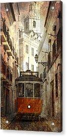 Lisbon Streetcar Acrylic Print by Daniel Hagerman