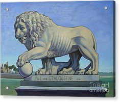 Listen To The Lion I Acrylic Print by Teri Tompkins