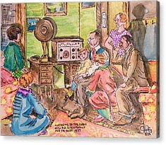 Listening To The Radio Acrylic Print by The GYPSY And DEBBIE