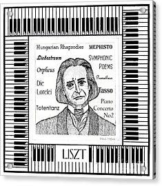 Liszt Acrylic Print by Paul Helm