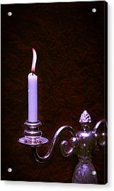 Lit Candle Acrylic Print by Amanda Elwell
