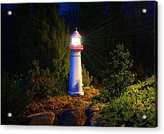 Lit-up Lighthouse Acrylic Print