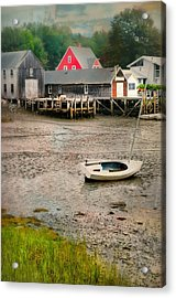 Lit'a Bit Of Red Acrylic Print by Diana Angstadt