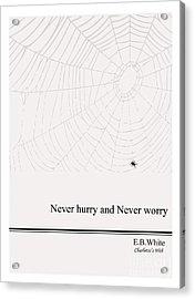 Literary Quote- E.b. White - Cw Acrylic Print