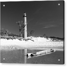 Litle Sable Light Station - Film Scan Acrylic Print by Larry Carr