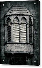 Lattice Castle Window Acrylic Print by Nadalyn Larsen