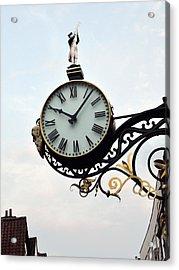 Little Admiral Clock York England Acrylic Print