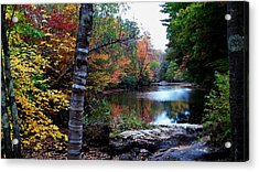 Little Androscoggin River Acrylic Print by Mike Breau
