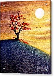 Little Autumn Tree Acrylic Print