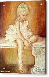Little Ballerina Acrylic Print by Carole Spandau