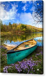 Little Bit Of Heaven Acrylic Print by Debra and Dave Vanderlaan