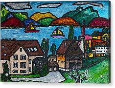 Little Bit Of Swiss Acrylic Print by Monica Engeler