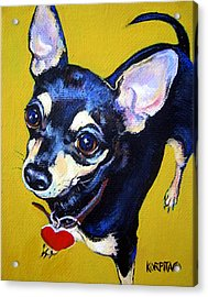 Little Bitty Chihuahua Acrylic Print