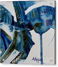 Little Blue Abstract 2 Of 6 Acrylic Print by Donna Acheson-Juillet