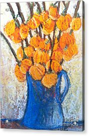 Little Blue Jug Acrylic Print by Sherry Harradence