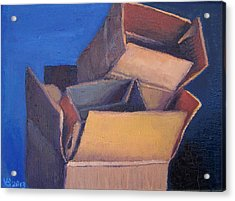 Little Boxes-red Yellow Blue Acrylic Print