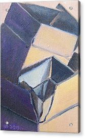 Little Boxes-yellow And Violet Acrylic Print
