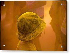Acrylic Print featuring the photograph Little Boy Yellow by Debbie Cundy