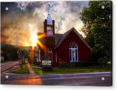 Little Brick Chapel Acrylic Print by Debra and Dave Vanderlaan