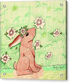 Little Bunny Big Dreams Acrylic Print