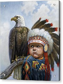 Little Chief Acrylic Print by Gregory Perillo