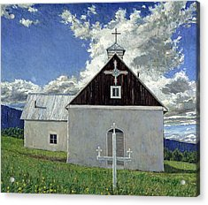 Little Church At Ocate Acrylic Print by Steven Boone