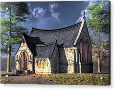 Little Church Acrylic Print by Christian Art
