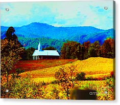 Little Church In The Mountains Of Wv Acrylic Print