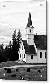 Little Church On The Hill Acrylic Print by Marv Russell