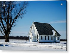 Little Church On The Prairie Acrylic Print by Luther Fine Art