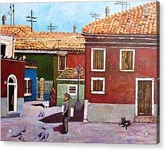 Little Corner Of Venice Acrylic Print by Caroline Street