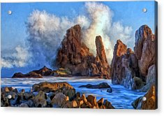 Acrylic Print featuring the painting Little Corona by Michael Pickett