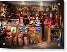 Little Country Grocery  Acrylic Print by Debra and Dave Vanderlaan