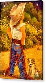 Little Cowgirl Acrylic Print