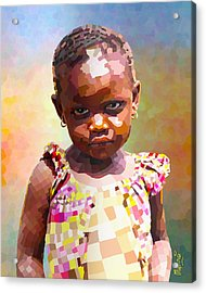 Little Cute Girl Acrylic Print