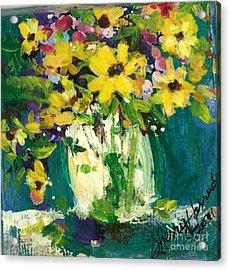 Little Daisies Acrylic Print