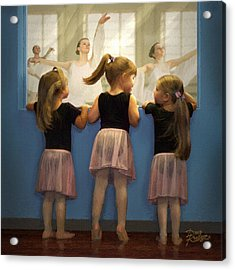 Little Dancing Dreamers Acrylic Print