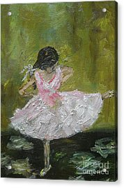 Acrylic Print featuring the painting Little Dansarina by Reina Resto
