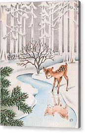 Little Deer Acrylic Print