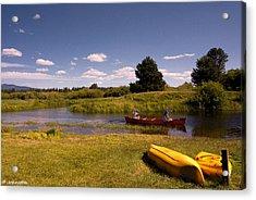 Little Deschutes River Bend Sunriver Thousand Trails Acrylic Print