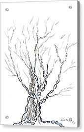 Little Dna Tree Acrylic Print