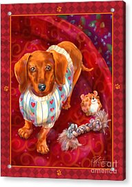 Little Dogs - Dachshund Acrylic Print