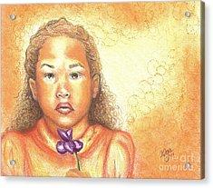 Acrylic Print featuring the mixed media Little Doll by Alga Washington