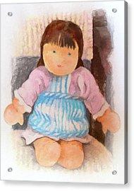 Little Doll Acrylic Print by Lutz Baar